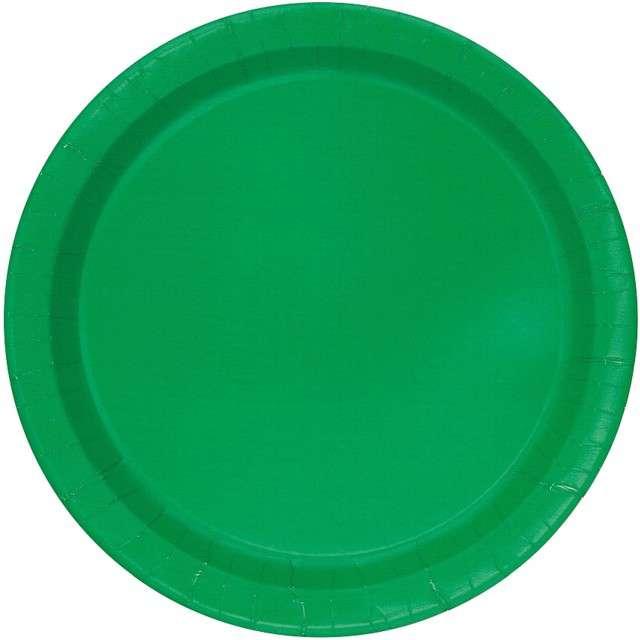 """Talerzyki papierowe """"Classic"""", zielony, UNIQUE, 18 cm, 20 szt"""