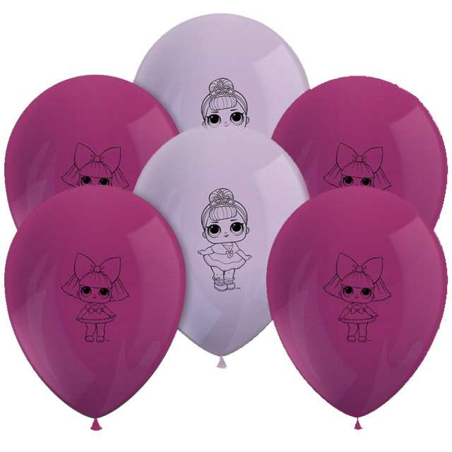 "Balony ""LoL Surprise"", mix, PROCOS, 11"", 8 szt"