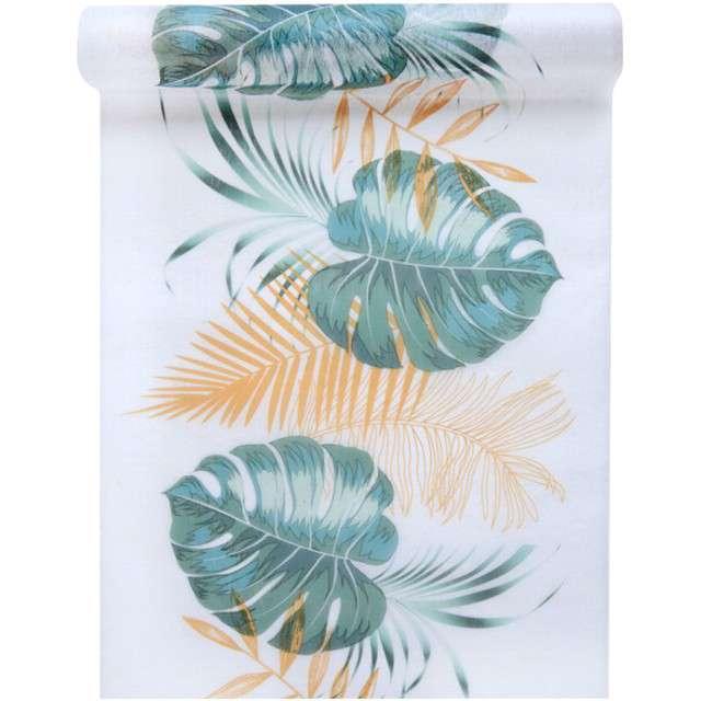 """Bieżnik """"Hawajskie Liście"""", mix, SANTEX, 500 x 30 cm"""