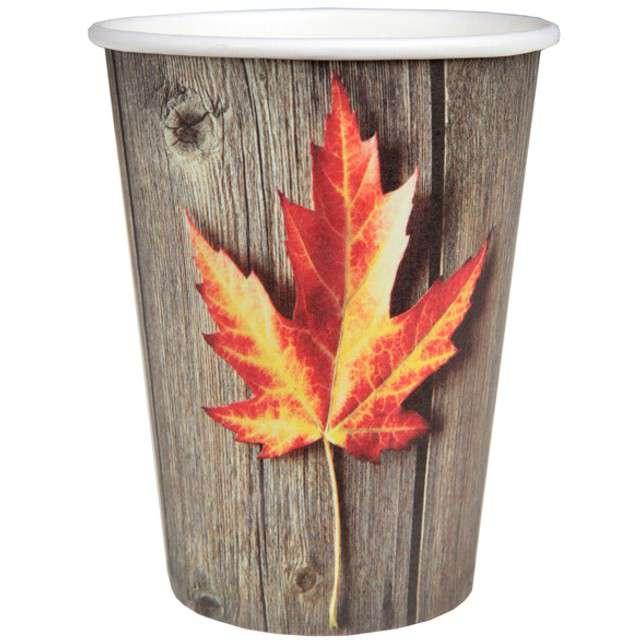 """Kubeczki papierowe """"Jesieny Liść"""", SANTEX, 250 ml, 10 szt"""