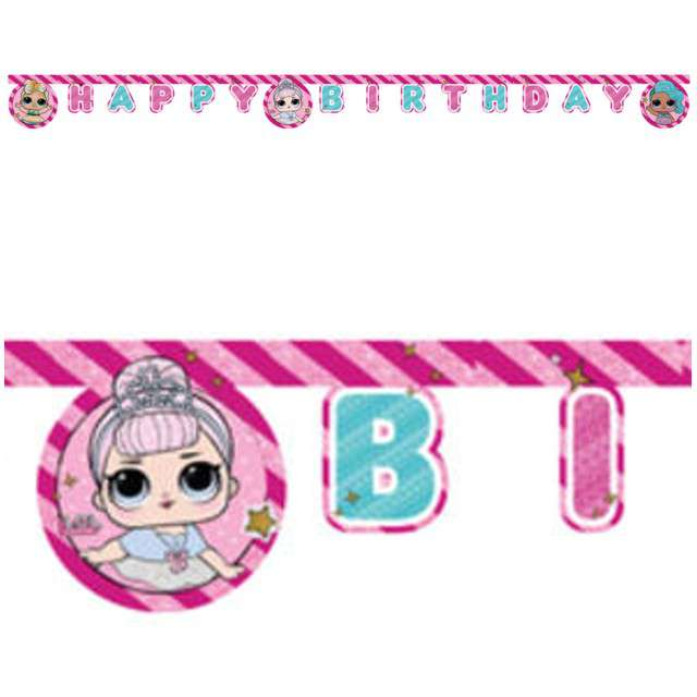 "Baner ""Lol Surprise- Happy Birthday"", PROCOS, 210 cm"