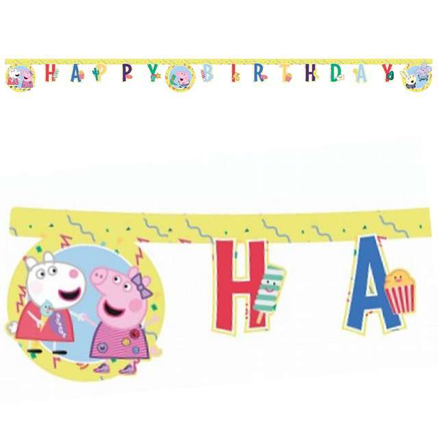 "Baner ""Peppa Pig - Happy Birthday"", PROCOS, 230 cm"