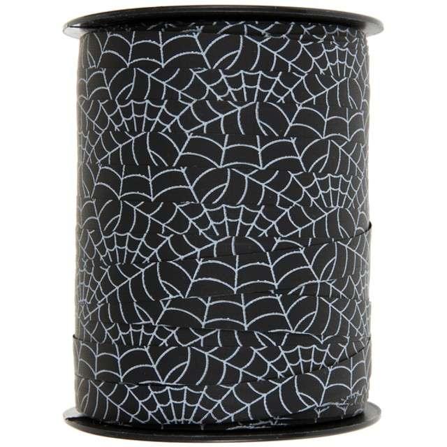 """Wstążka do balonów """"Pajęczyna Bolduc"""", czarna, SANTEX, 10 mm/50 m"""