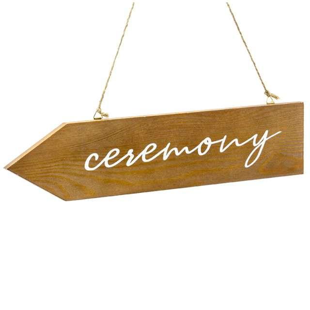 """Dekoracja """"Ceremony - Drogowskaz"""", drewniany, PartyDeco, 36x7,5 cm"""