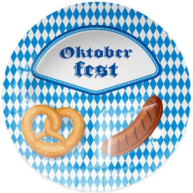"""Talerzyki papierowe """"Oktoberfest"""", FOLAT, 23 cm, 8 szt"""