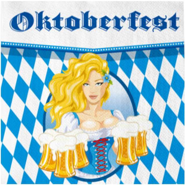 "Serwetki ""Oktoberfest - Piwo"", FOLAT, 33 cm, 20 szt"