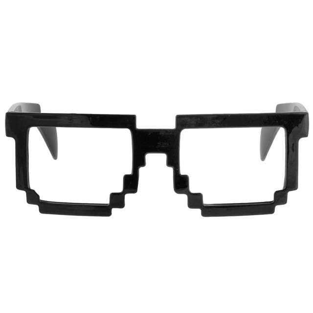 "Okulary party ""8 Bit Pixel"", czarne, GODAN"
