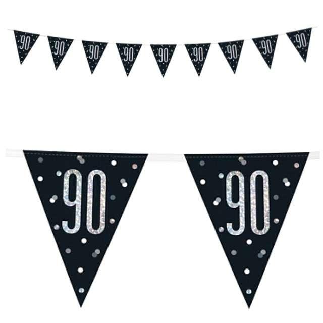 """Baner flagi """"90 Urodziny - Glitz Holo"""", UNIQUE, 274 cm"""
