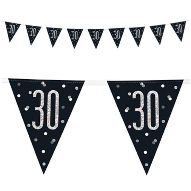 """Baner flagi """"30 Urodziny - Glitz Holo"""", UNIQUE, 274 cm"""