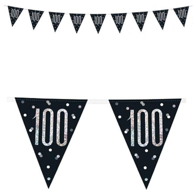 """Baner flagi """"100 Urodziny - Glitz Holo"""", UNIQUE, 274 cm"""