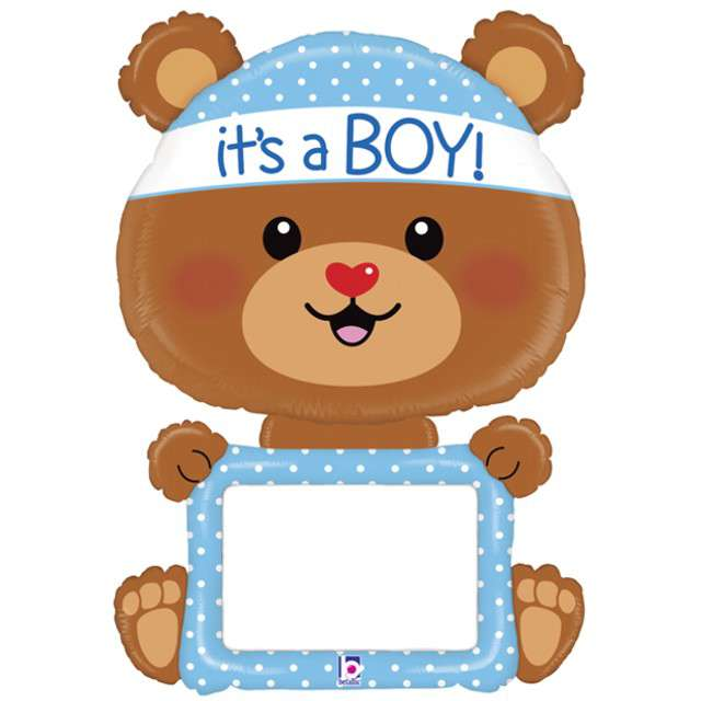 "Balon foliowy ""Miś - Baby Boy"", GRABO, 48"" SHP"