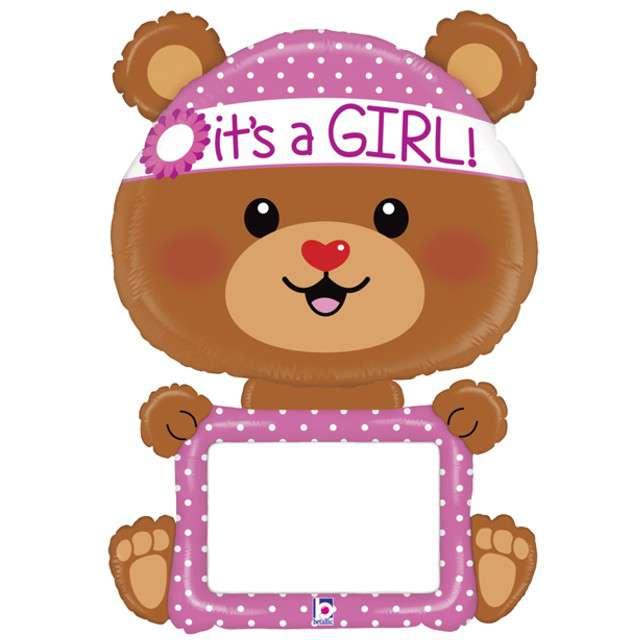 "Balon foliowy ""Miś - Baby Girl"", GRABO, 48"" SHP"