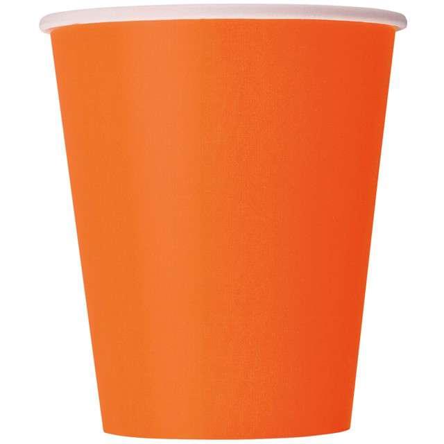 """Kubeczki papierowe """"Classic"""", pomarańczowe, UNIQUE, 270 ml, 8 szt"""