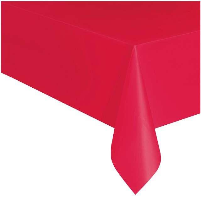 """Obrus foliowy """"Classic"""", czerwony, UNIQUE, 275x137 cm"""