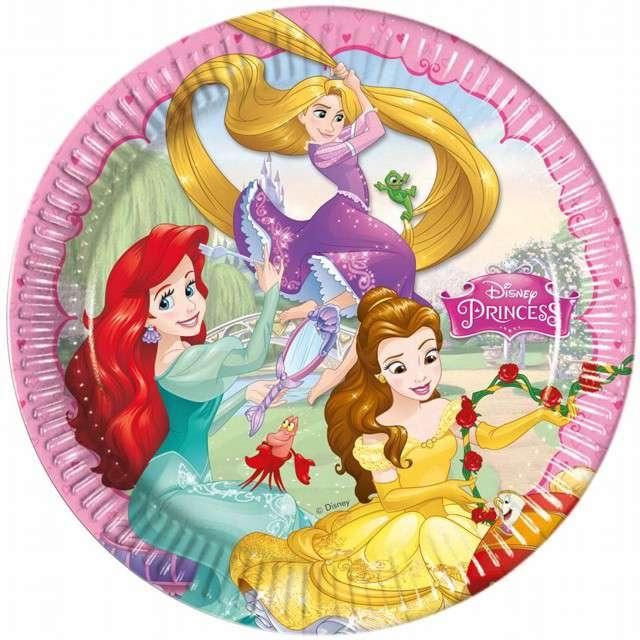 """Talerzyki papierowe """"Disney Princess - Dreaming"""", PROCOS, 23 cm, 8 szt"""