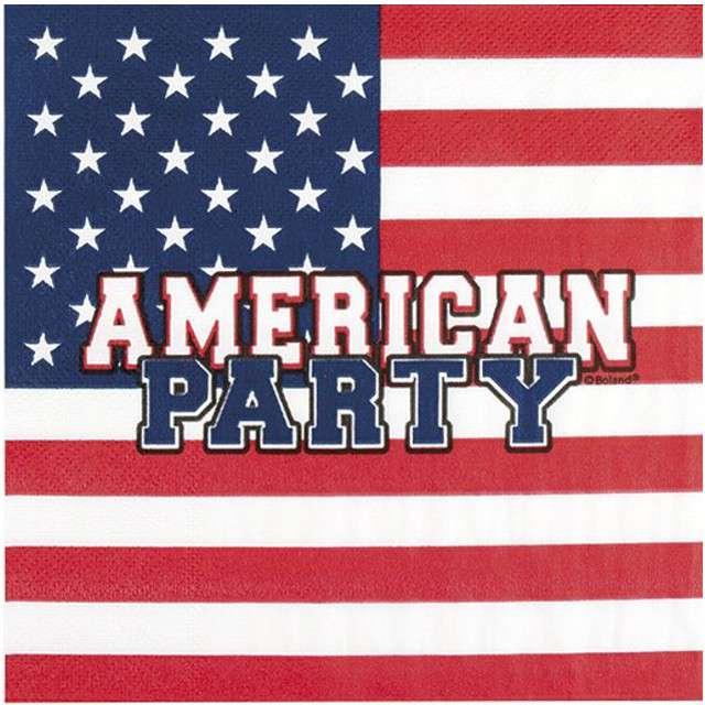 "Serwetki ""USA - American Party"", BOLAND, 33 cm, 12 szt"