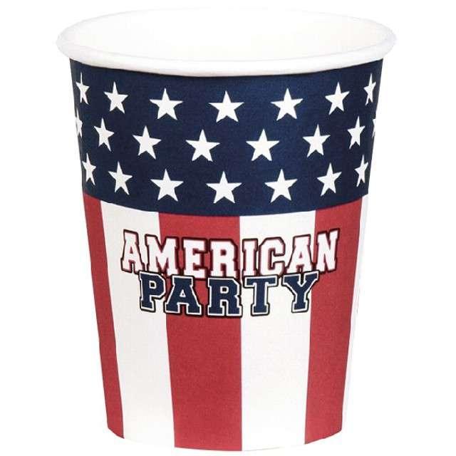 """Kubeczki papierowe """"USA - American Party"""", BOLAND, 250 ml, 6 szt"""