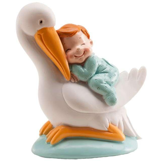 "Figurka na tort ""Baby Shower Boy - Bocian"", DEKORA, 10 cm"