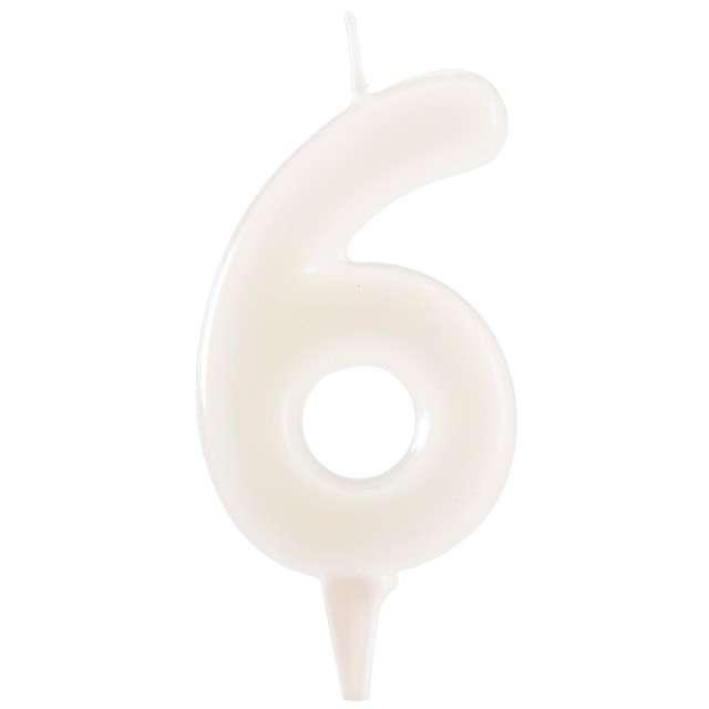 """Świeczka na tort """"Cyfra 6"""", fluo, DEKORA 6 cm"""