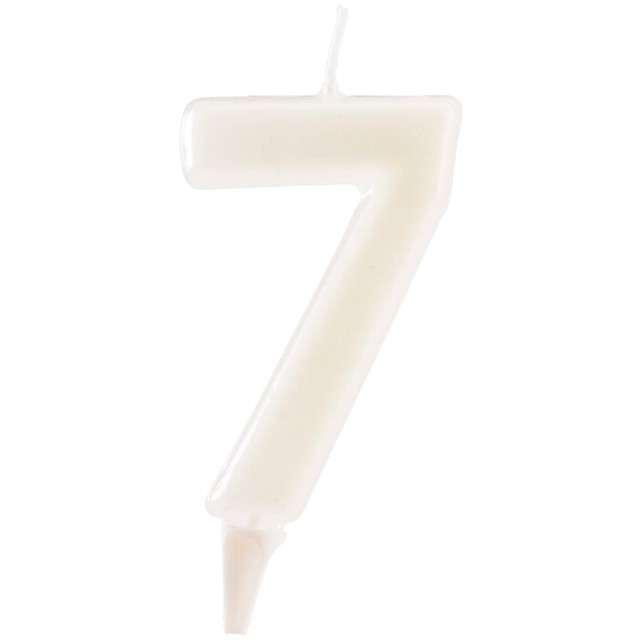 """Świeczka na tort """"Cyfra 7"""", fluo, DEKORA 6 cm"""