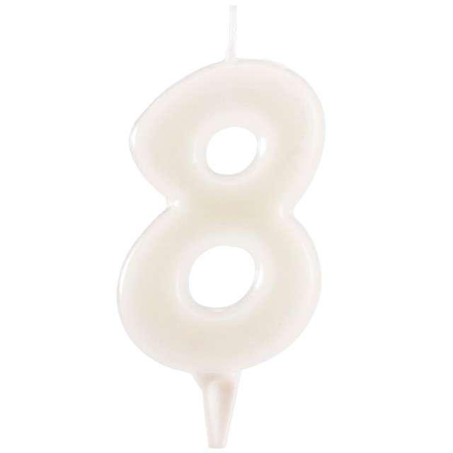"""Świeczka na tort """"Cyfra 8"""", fluo, DEKORA 6 cm"""