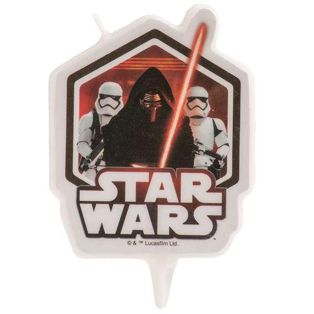 """Świeczka na tort """"Star Wars - Gwiezdne Wojny"""", DEKORA, 7,5 cm"""