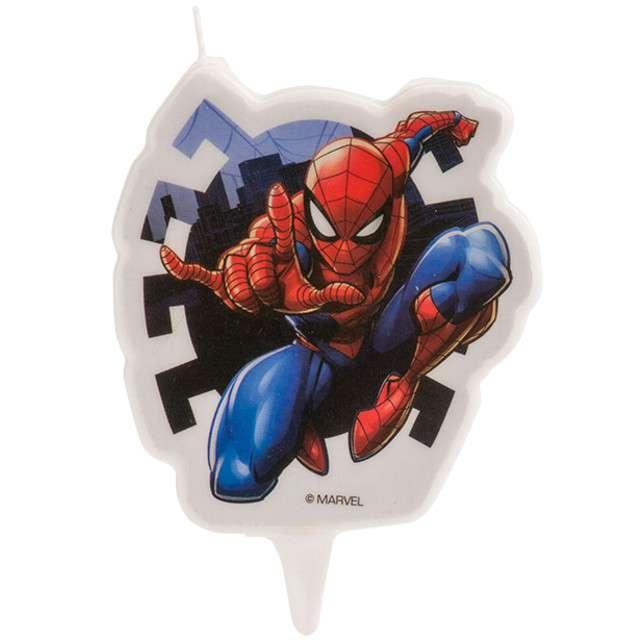 "Świeczka na tort ""Spiderman"", DEKORA, 7 cm"