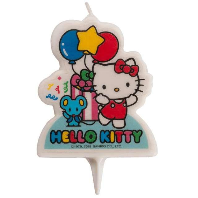 """Świeczka na tort """"Hello Kitty"""", DEKORA, 7 cm"""