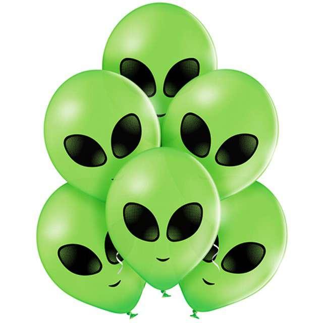 "Balony ""Kosmita"", pastel zielone, BELBAL, 10"", 6 szt"