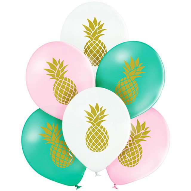 "Balony ""Ananas"", pastel mix, BELBAL, 10"", 6 szt"