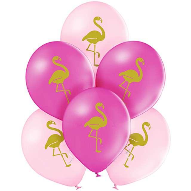 """Balony """"Flaming"""", pastel różowe, BELBAL, 10"""", 6 szt"""