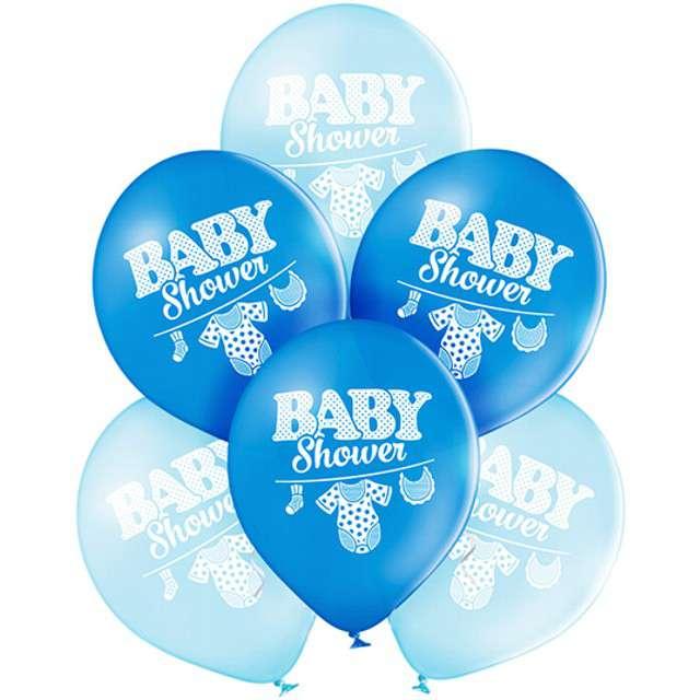 """Balony """"Baby Shower - Boy"""", pastel niebieski, BELBAL, 10"""", 6 szt"""