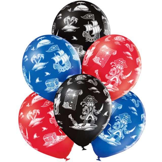 """Balony """"Pirat"""", pastel mix, BELBAL, 12"""", 6 szt"""