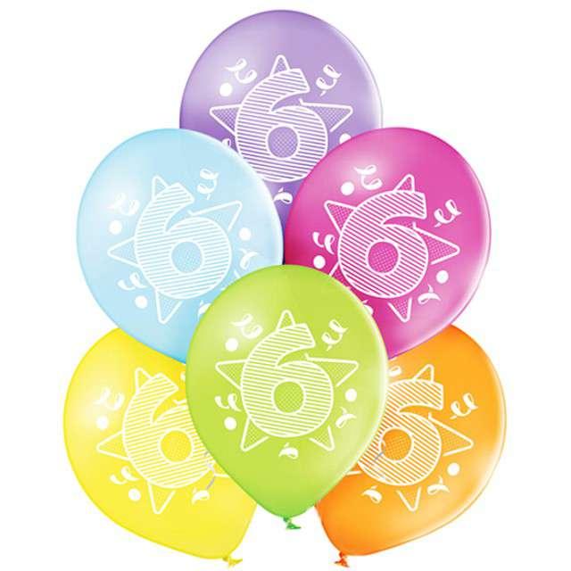 "Balony ""6 Urodziny"", pastel mix, BELBAL, 10"", 6 szt"