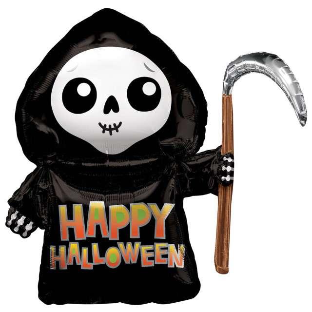 """Balon foliowy """"Śmierć - Happy Halloween"""", AMSCAN, 26"""" SHP"""