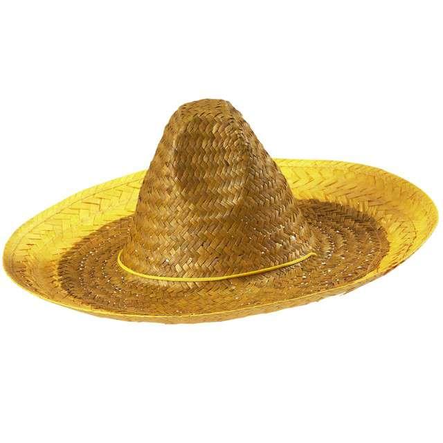 """Kapelusz """"Sombrero"""", żółte, WIDMANN, 48 cm"""