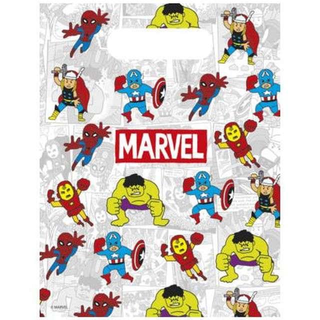 "Torebki foliowe ""Avengers Team Power"", PROCOS, 6 szt"