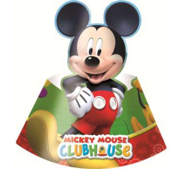 """Czapeczka papierowa """"Playful Mickey"""", PROCOS, 6 szt"""
