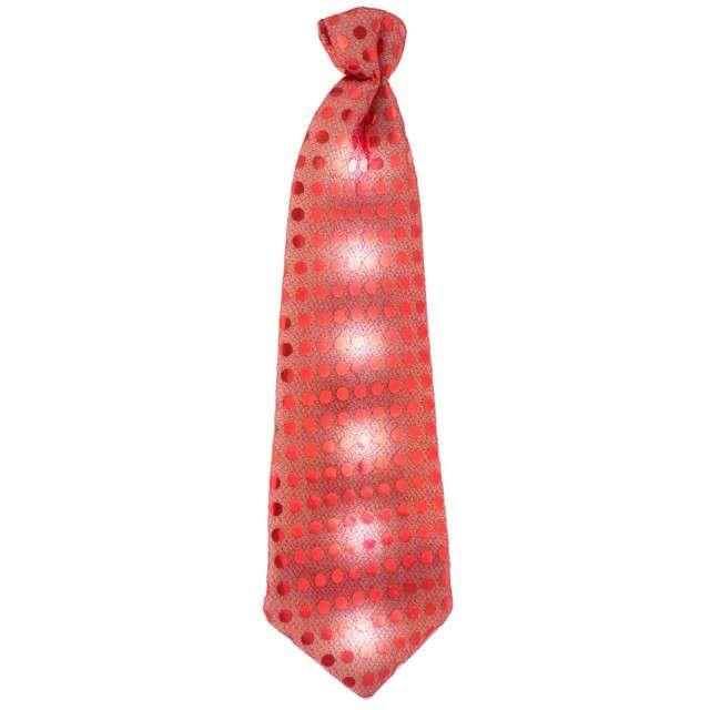 Krawat świecący, cekiny, czerwony, GODAN