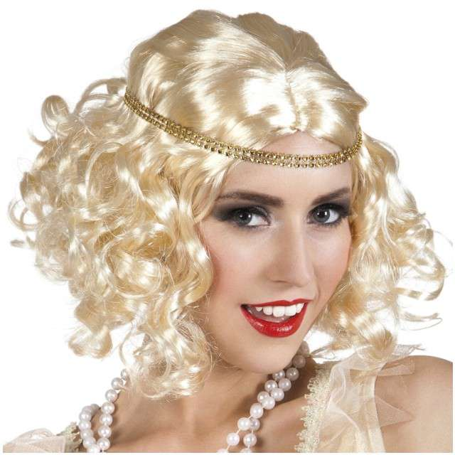 "Peruka party ""Retro - Lata 20"", blond, BOLAND"