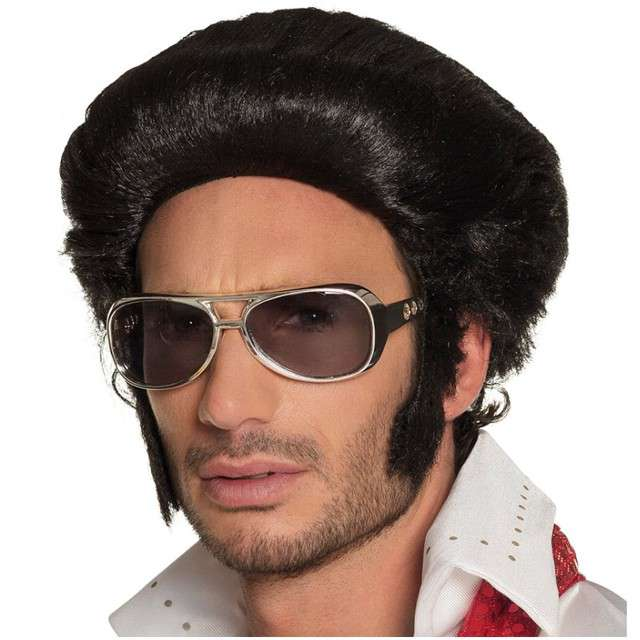 "Peruka party ""Elvis"", czarne, BOLAND"