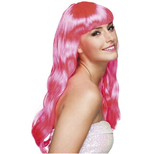 "Peruka party ""Chique"", różowy, BOLAND"