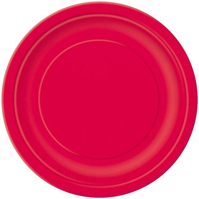 Talerzyki papierowe Classic czerwony UNIQUE 18 cm 20 szt