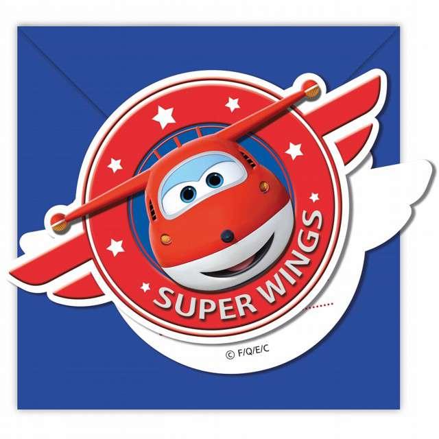 Zaproszenia urodzinowe Super Wings PROCOS 6 szt