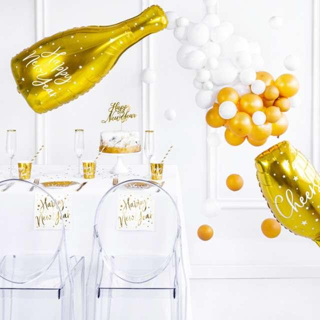 Balon foliowy Butelka złoty PartyDeco 32 SHP