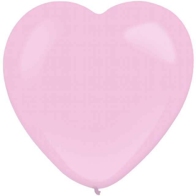 """Balony """"Serce"""", różowy, AMSCAN, 12"""", 50 szt"""