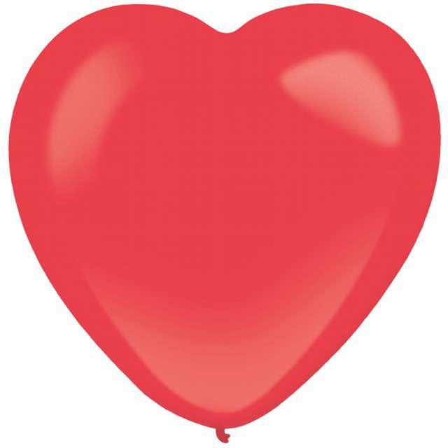"Balony ""Serce"", czerwony, AMSCAN, 12"", 50 szt"