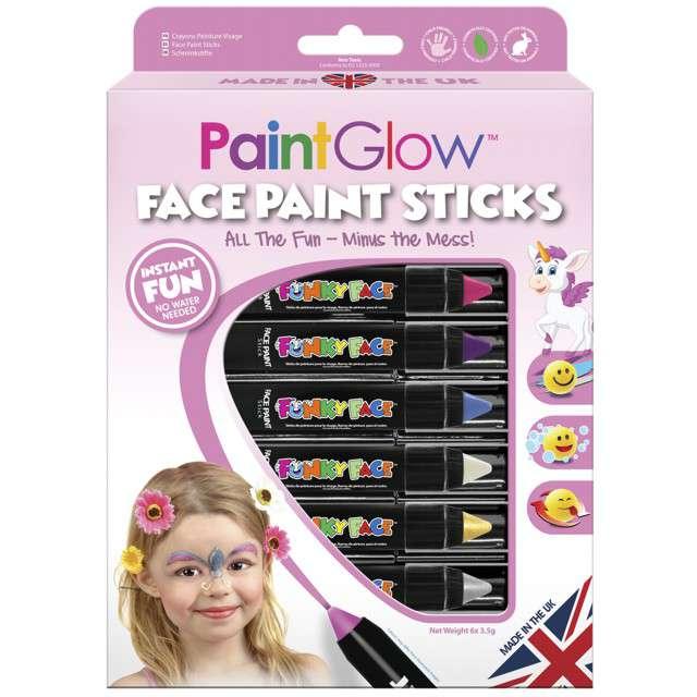 Make-up party Kredki do Makijażu - Księżniczka mix PaintGlow zestaw