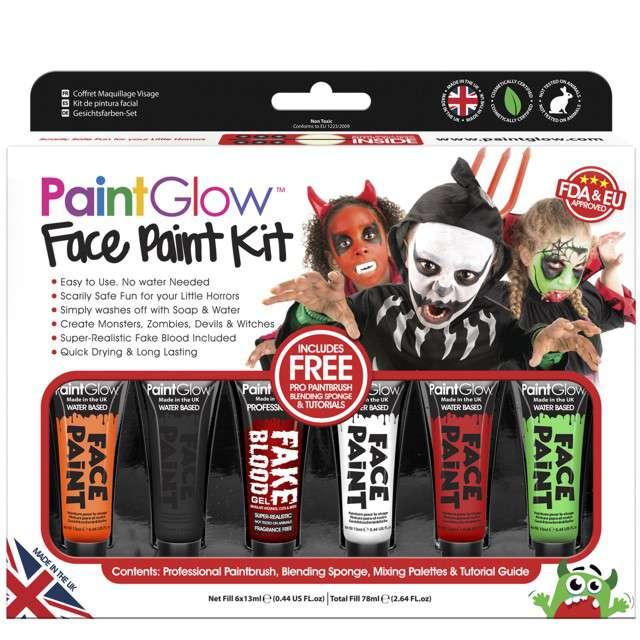 Make-up party Farbki na Halloween mix PaintGlow zestaw