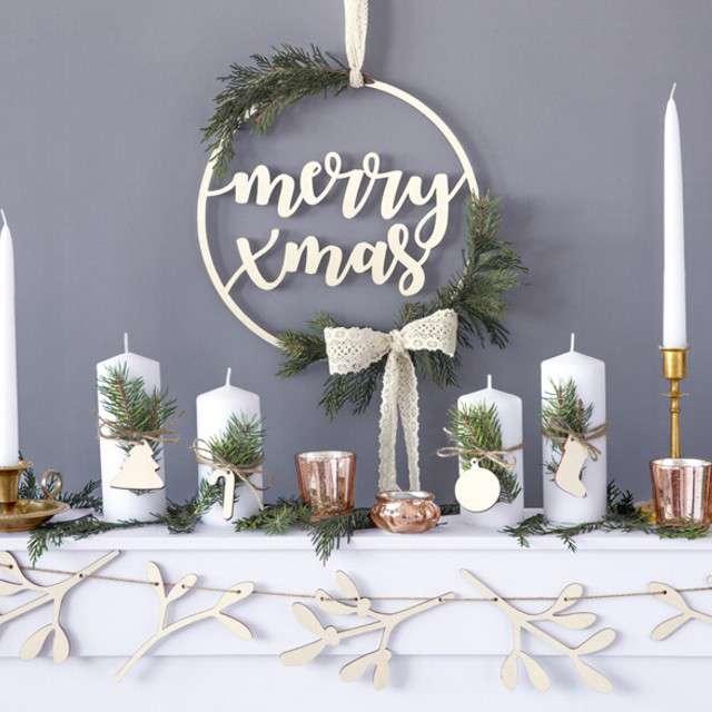 Dekoracja Merry Xmas PartyDeco 28 cm